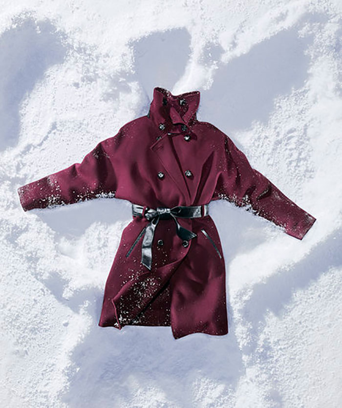 Winter Coat in Snow