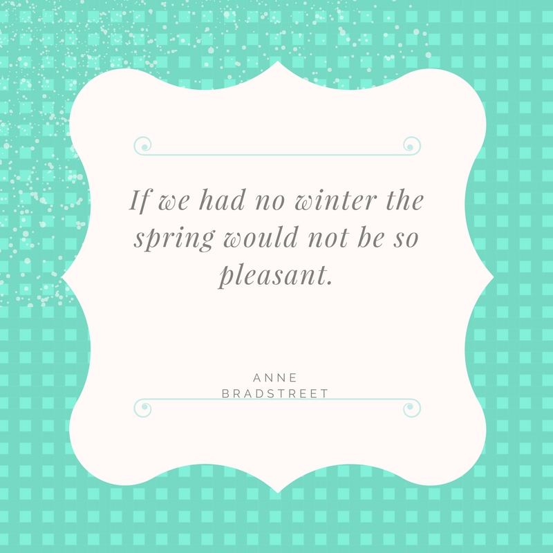 Winter to Spring Quote