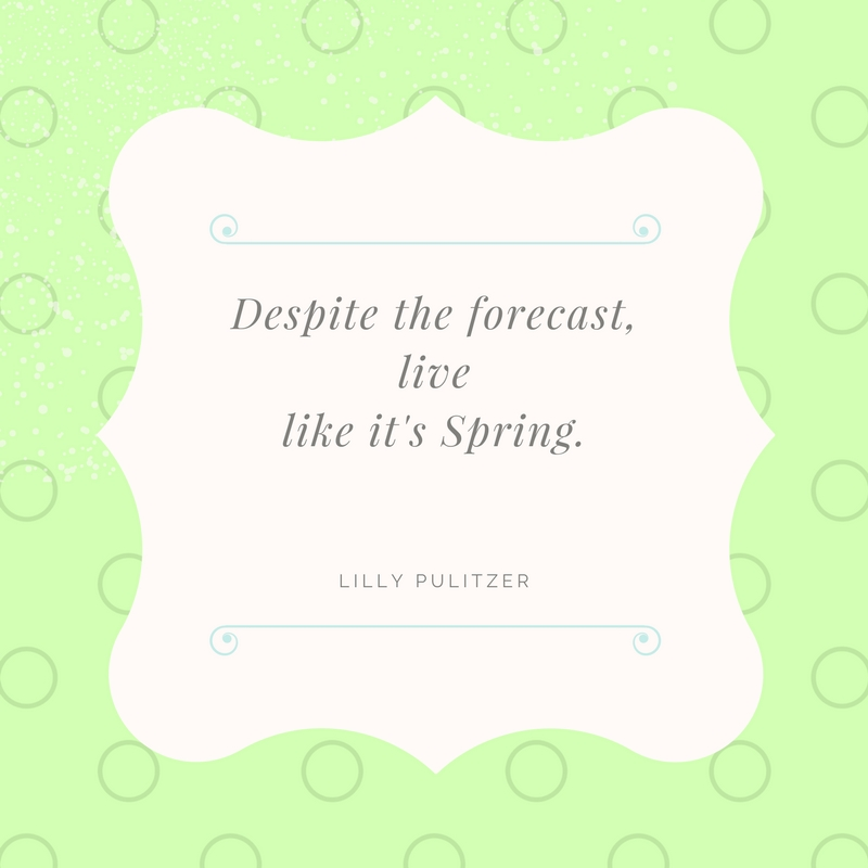 Live Like it's Spring 365 Days of the Year