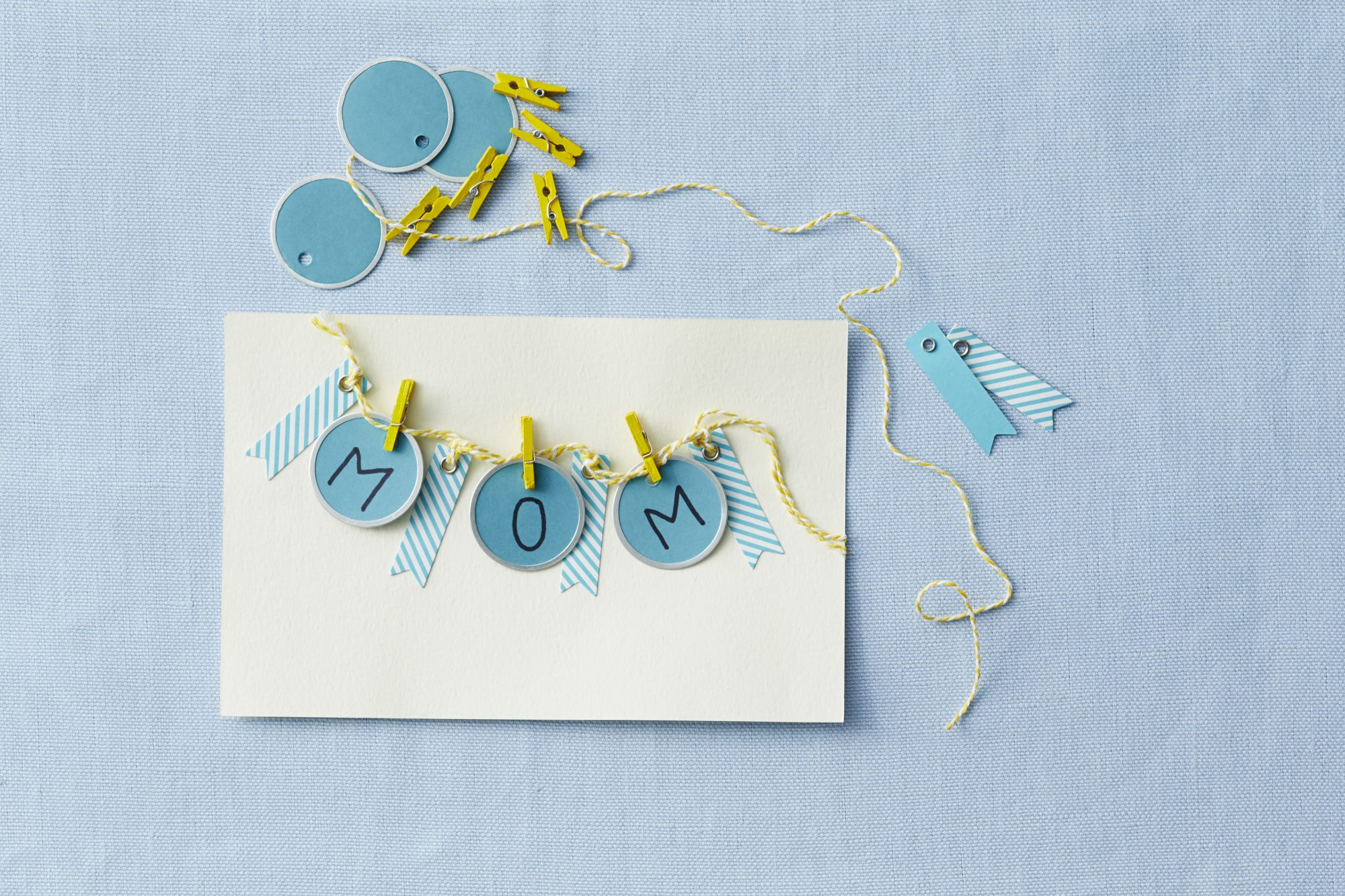 Clothesline Mother's Day Card