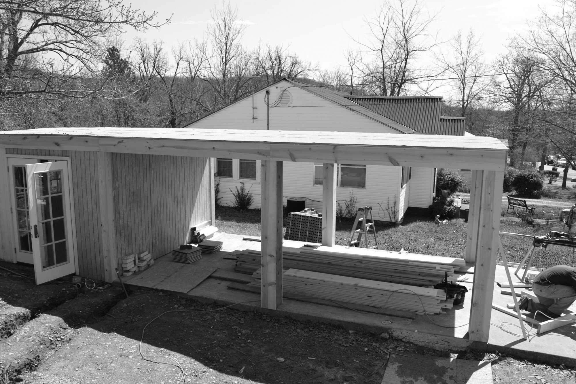 Porch Carport Before
