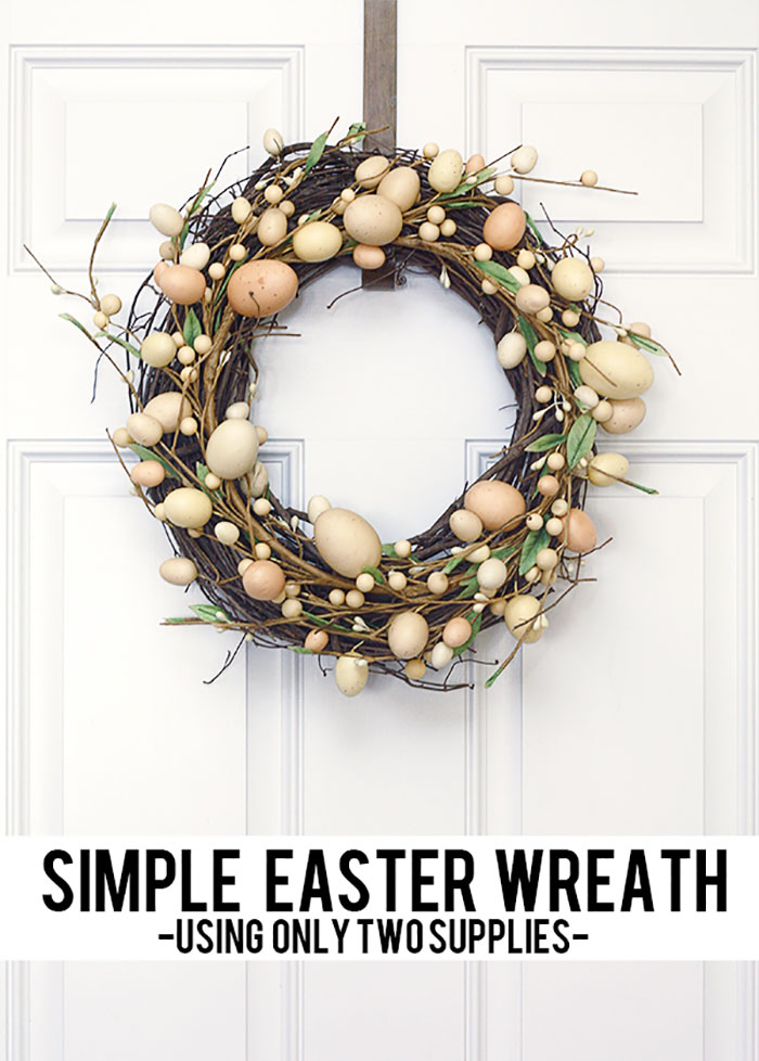 Twig Wreath with Rustic Egg Design