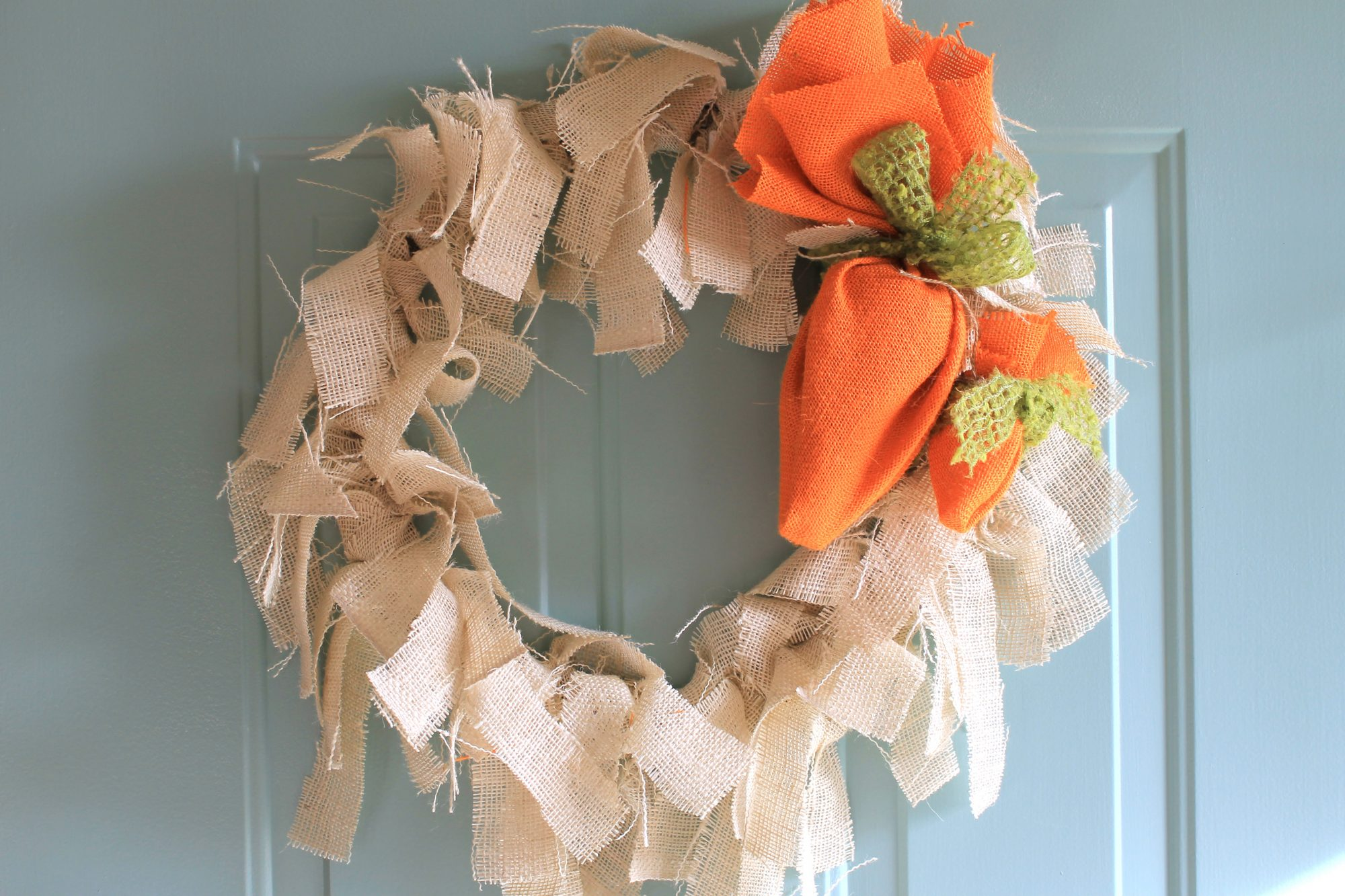 Burlap Carrot Easter Wreath