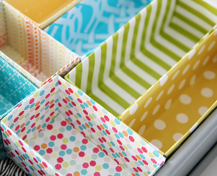Colorful Box Drawer Inserts
