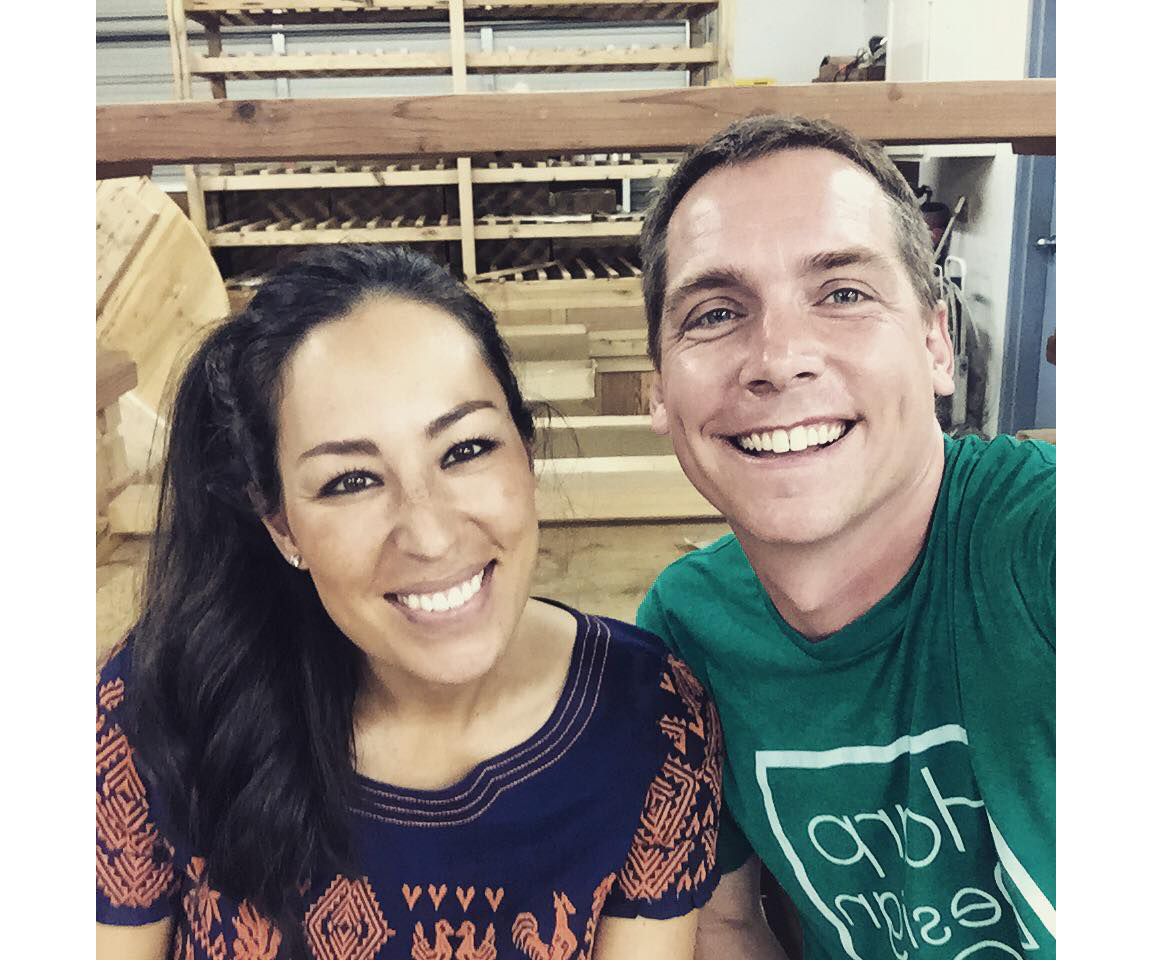 Joanna Gaines and Clint Harp Fixer Upper
