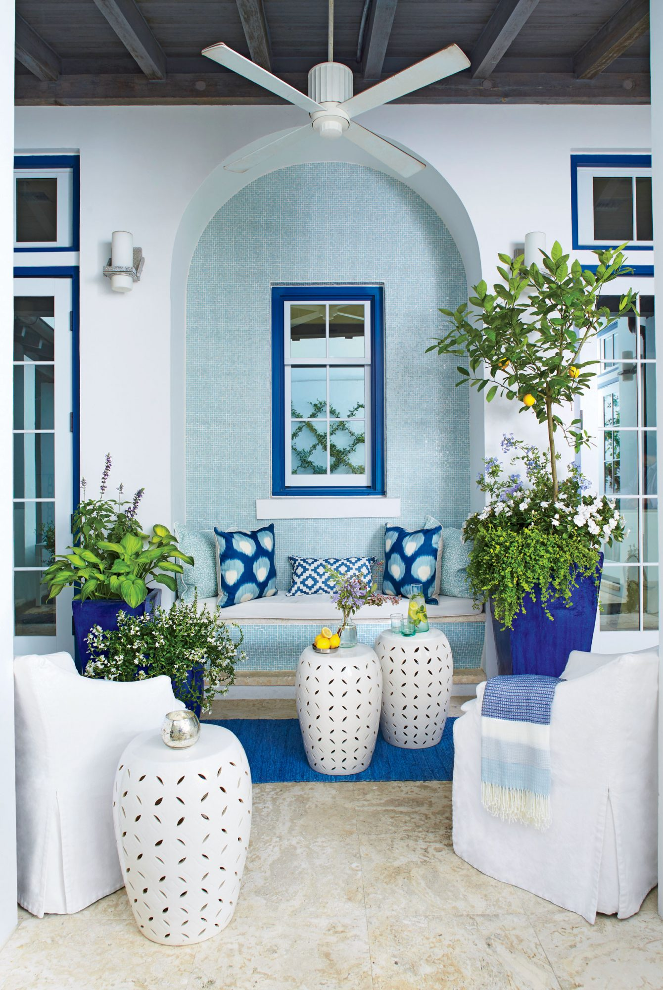 Coastal Blue Patio