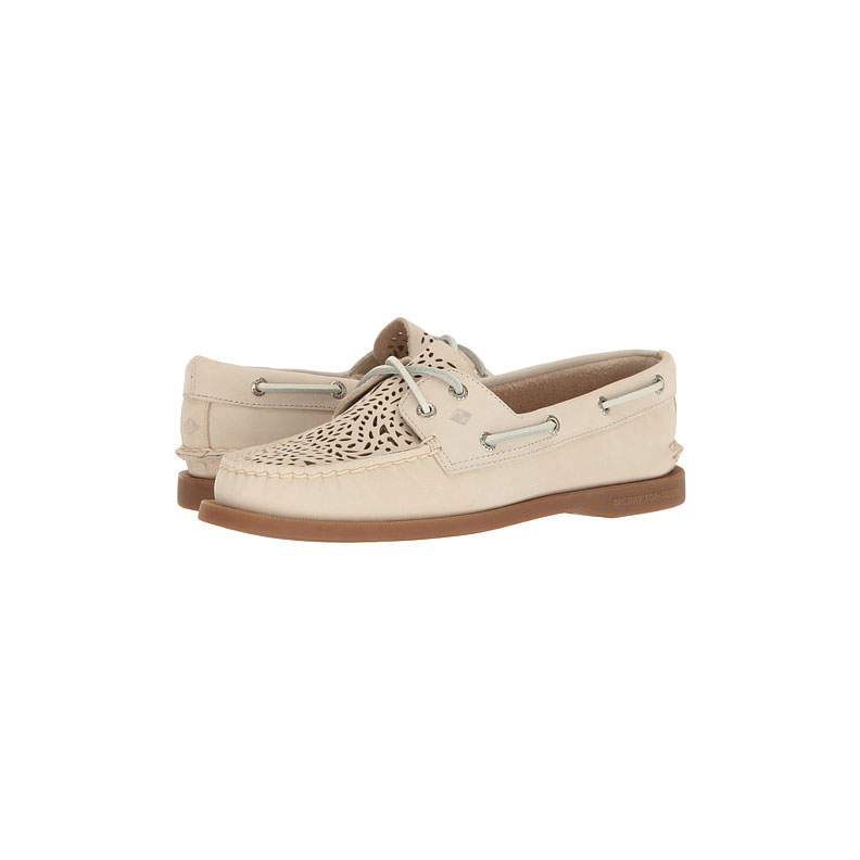 Ivory Sperry Boat Shoes