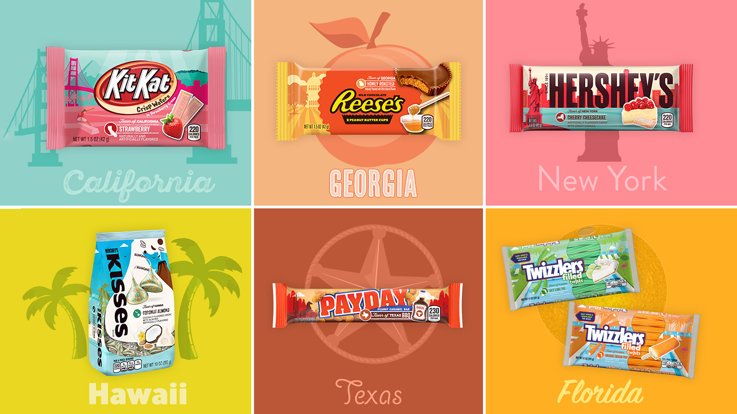 Hershey Introduces Candy Inspired by 6 States Including a BBQ-Flavored Bar
