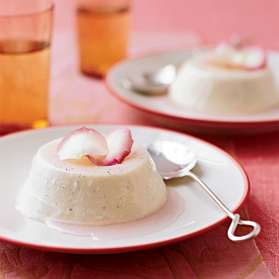 Creamy Rose Panna Cotta