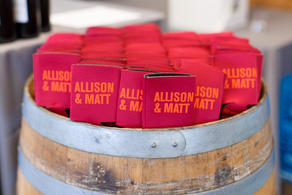 Virginia Tech Wedding Koozie Favor