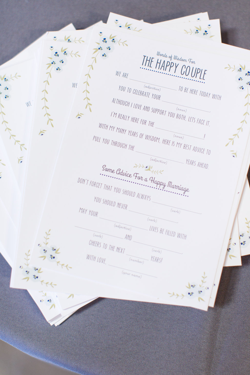 Wedding Guest MadLib Card