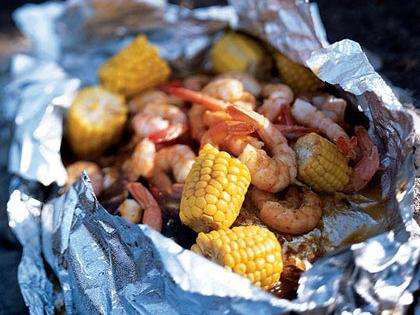 Barbecued Lime Shrimp and Corn