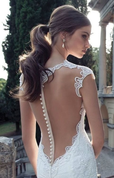 Pretty, Sleek Wedding Ponytail