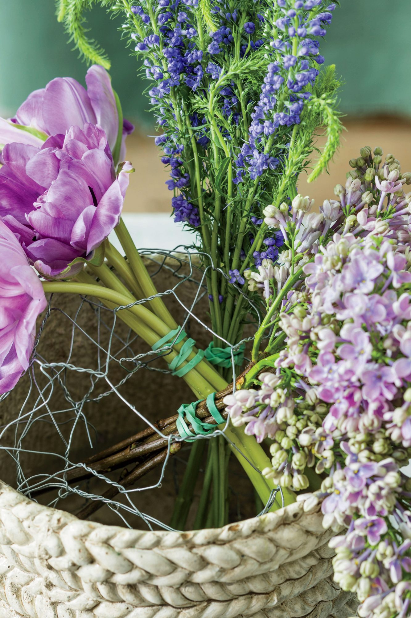 DIY Purple Spring Centerpiece