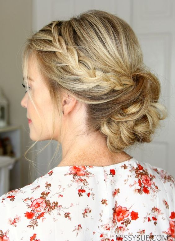 Summer Bridal Hair: Rope Braid Low Bun