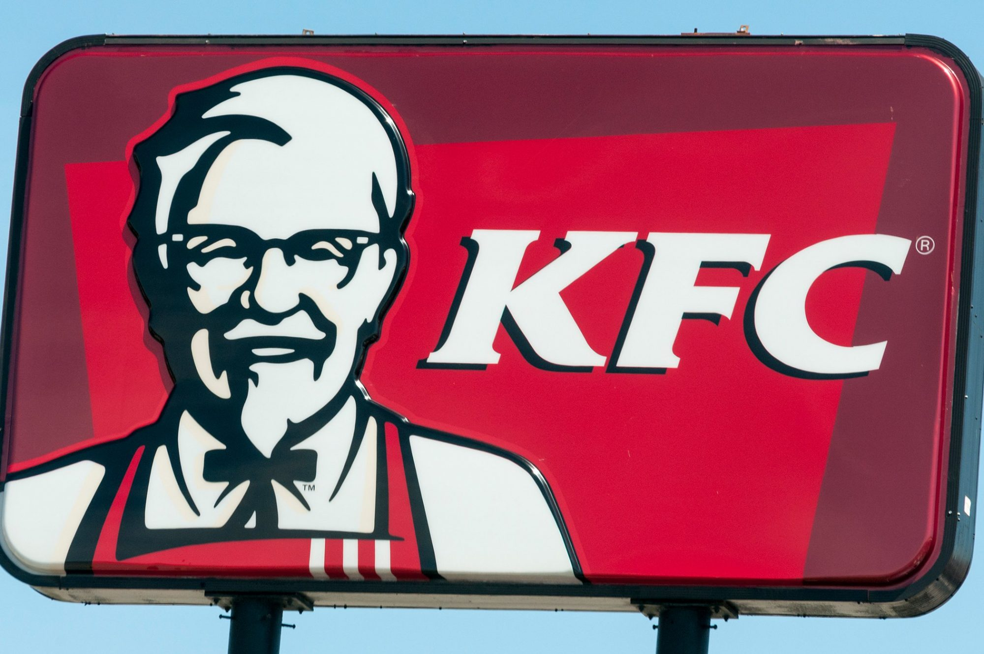 Kentucky Fried Chicken KFC fast food restaurant sign