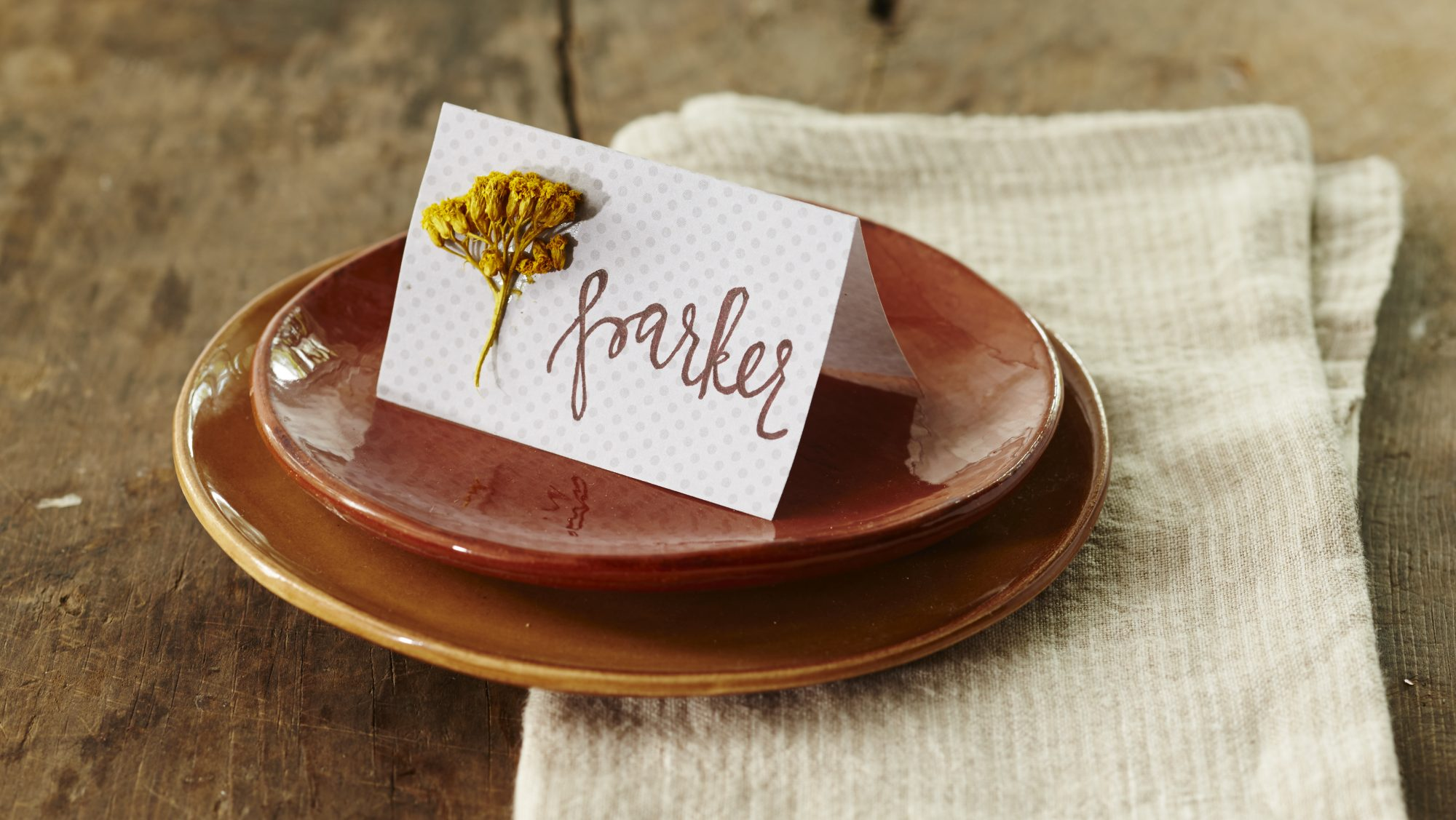 Place Cards in the Shades of the Season
