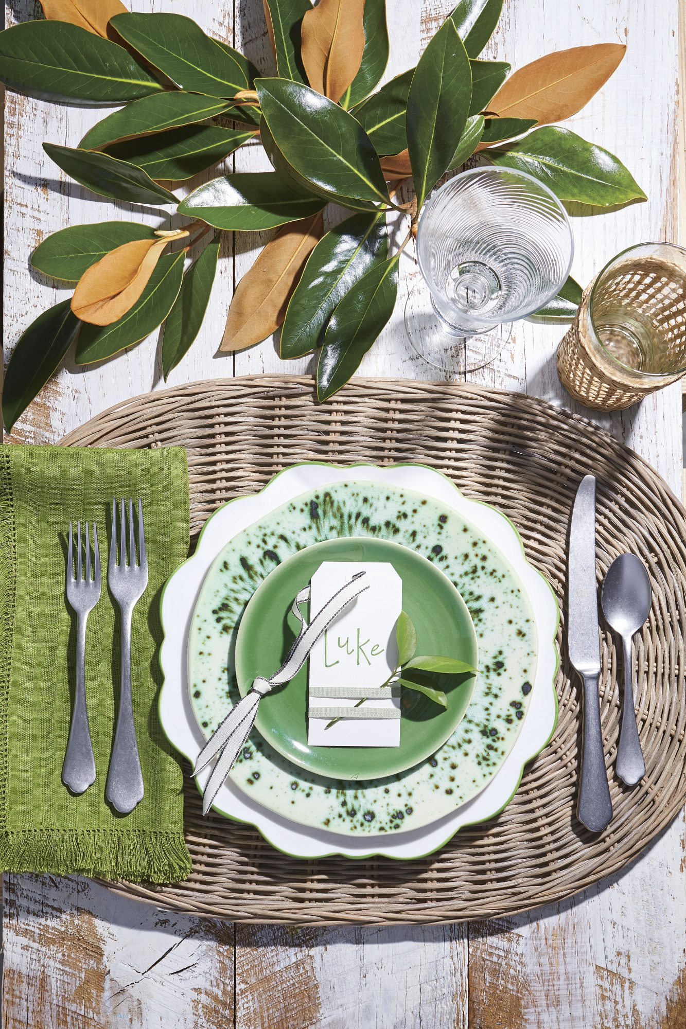 Green and Earthy Thanksgiving Table