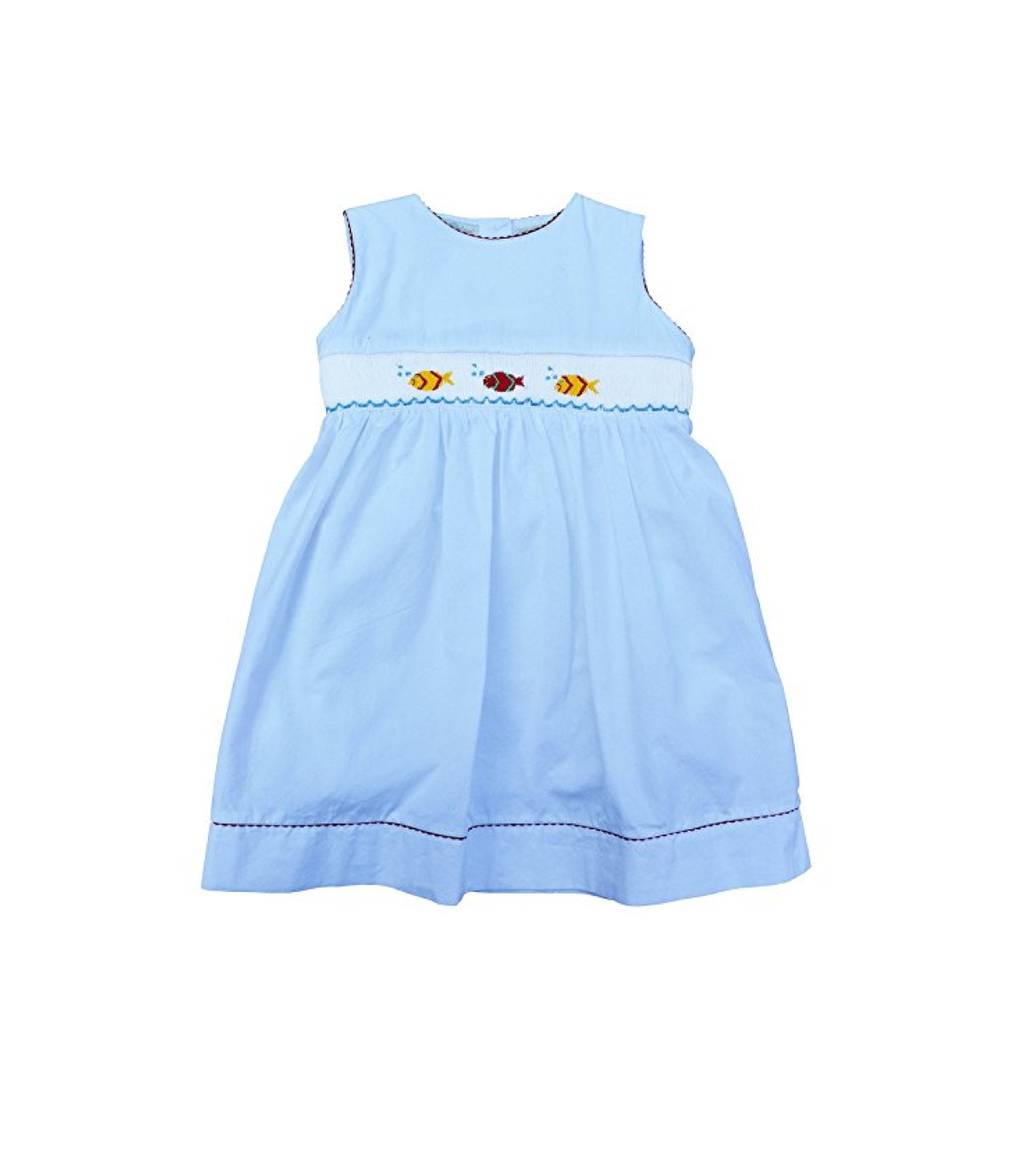 Hand-Smocked Colorful Fish Dress