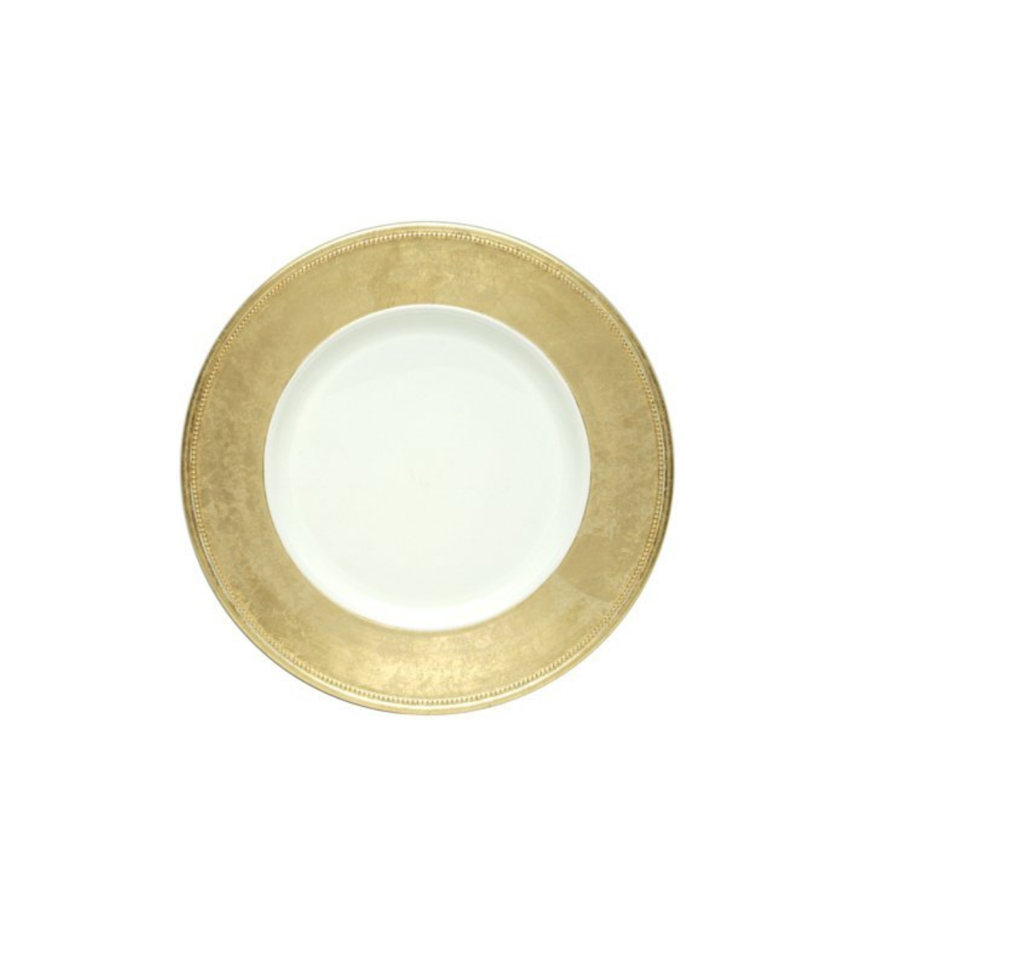 Gold Rim Charger Plates, Set of 4