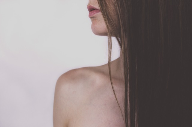 Young woman's profile and hair