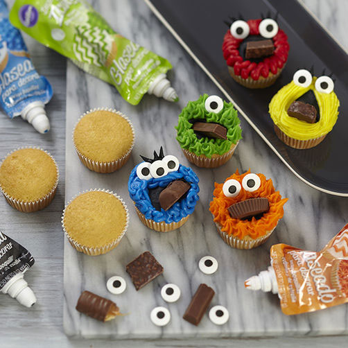 Mouthful Monster Cupcakes