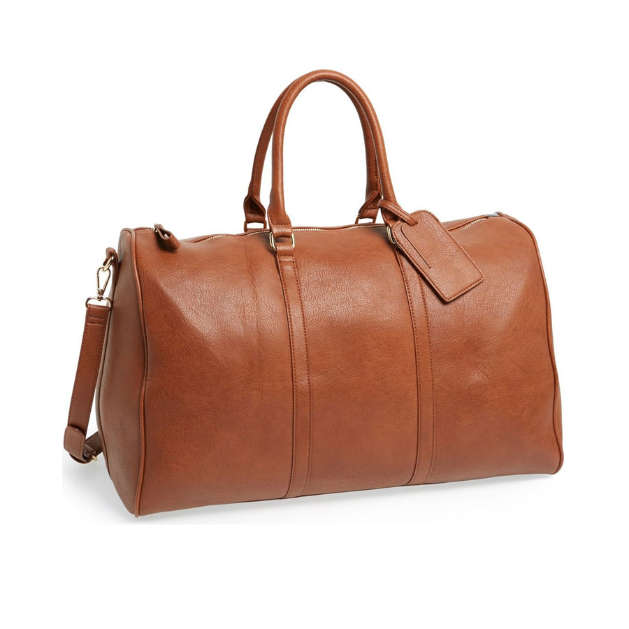 'Lacie' Faux Leather Duffel Bag SOLE SOCIETY