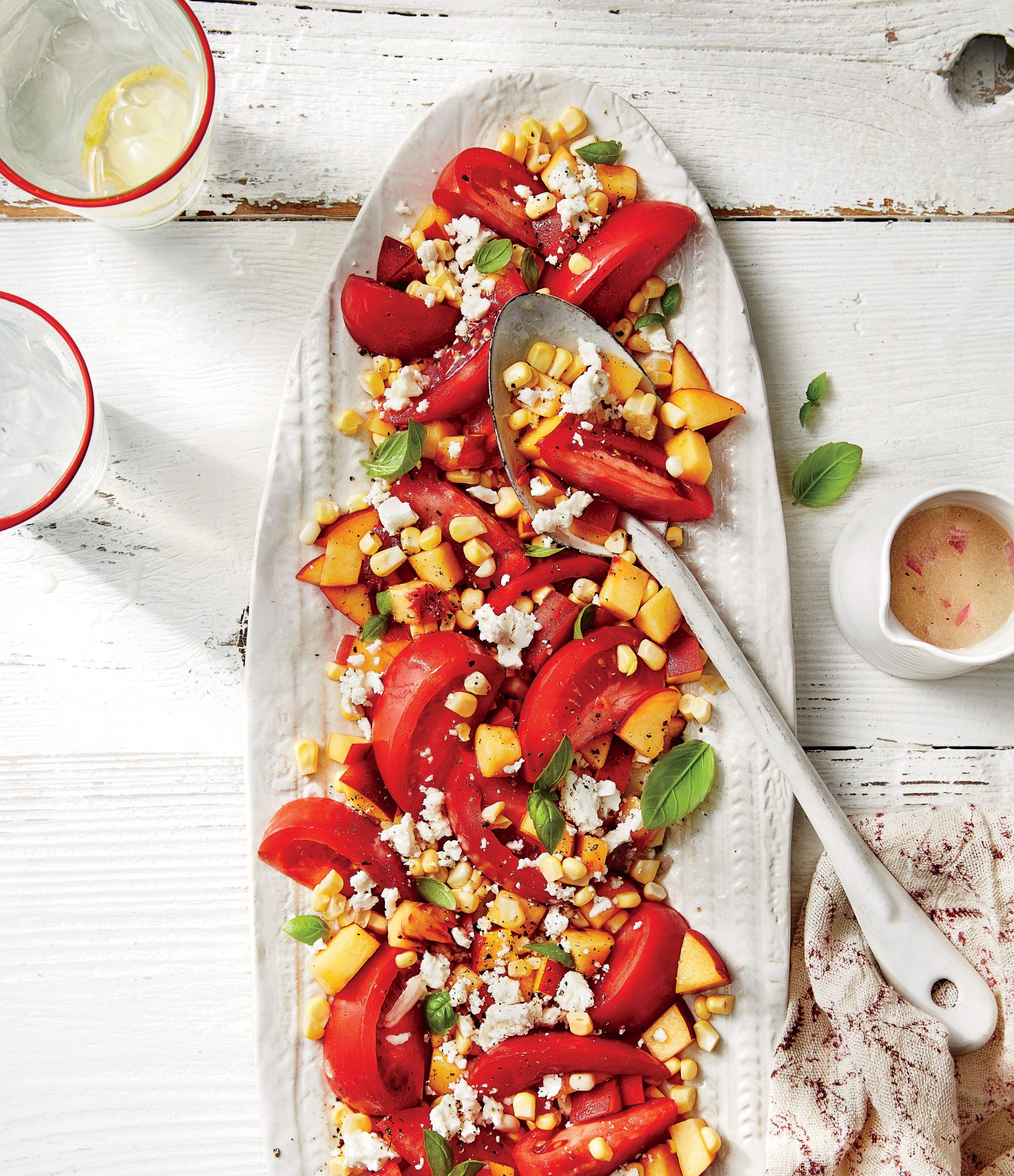 Tomato, Peach, and Corn Salad Recipe