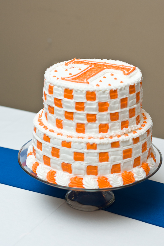 University of Tennessee Checkerboard Grooms Cake