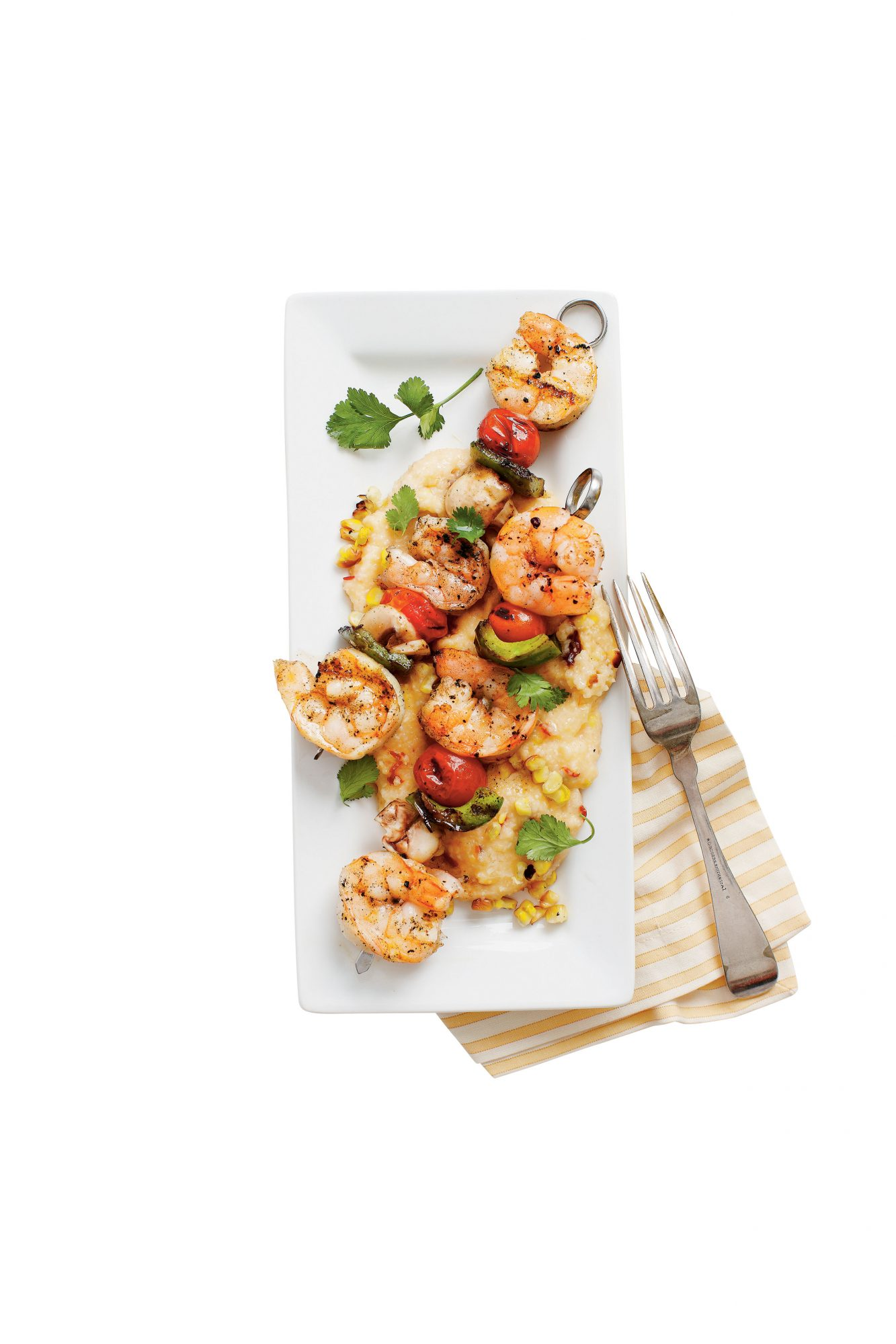 Grilled Shrimp and Smoky Grilled-Corn Grits Recipe