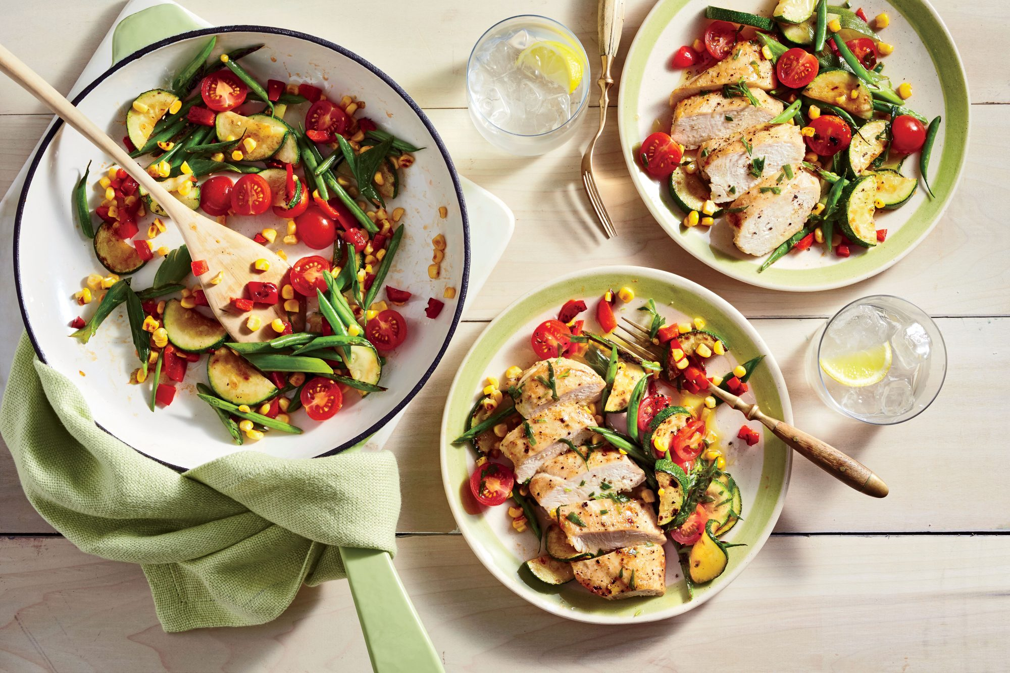 Chicken and Charred Succotash Salad Recipe