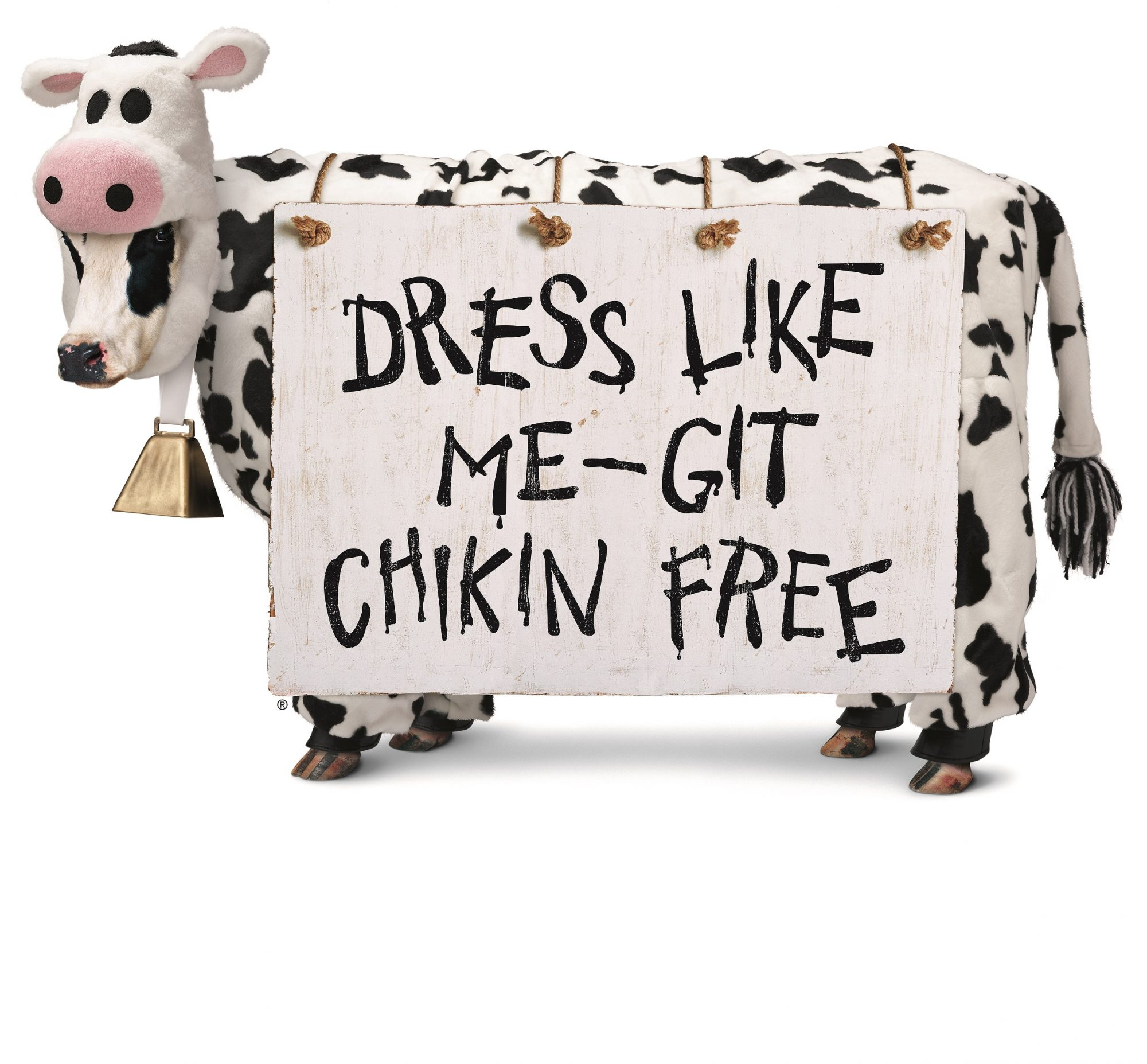 chick fil a free food dress like cow