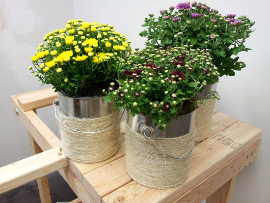 Incredible Ways to Decorate with Mums Make Your Own Container