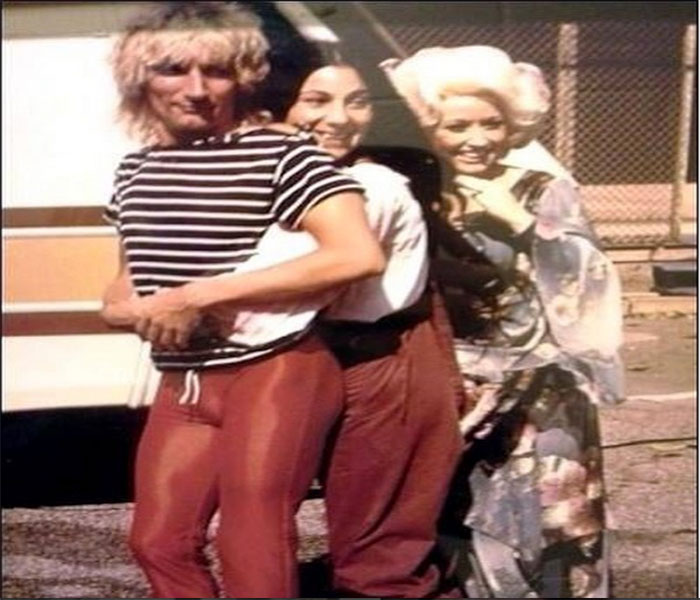 Dolly Parton, Cher, and Rod Stewart