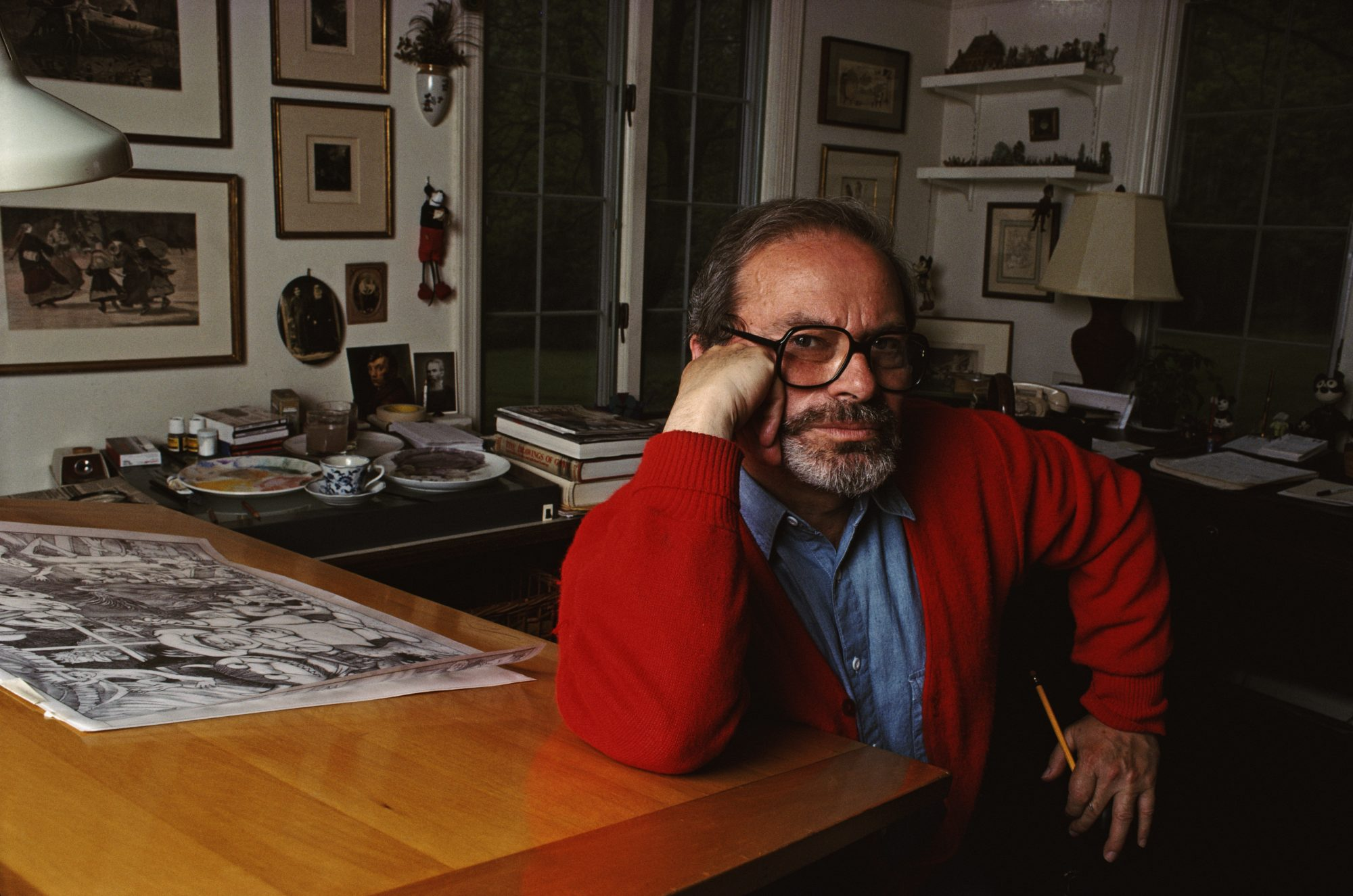 maurice sendak drawing table where wild things are