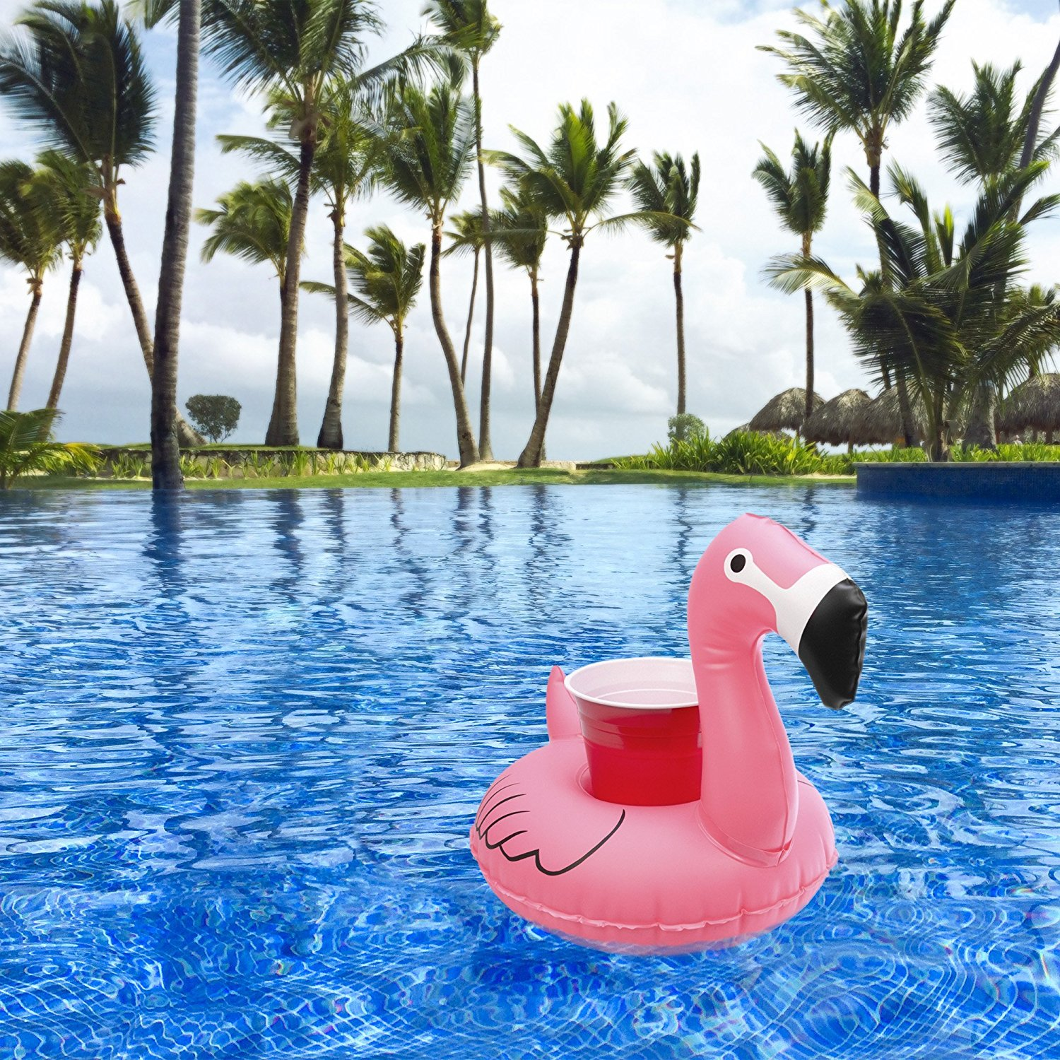 Inflatable Floatmingo Drink Holder