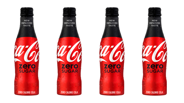 new Coke Zero bottles