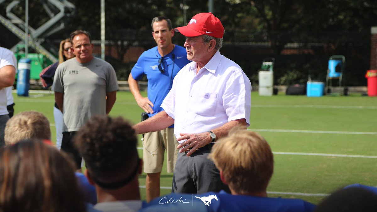 George W. Bush Giving Pep Talk at SMU