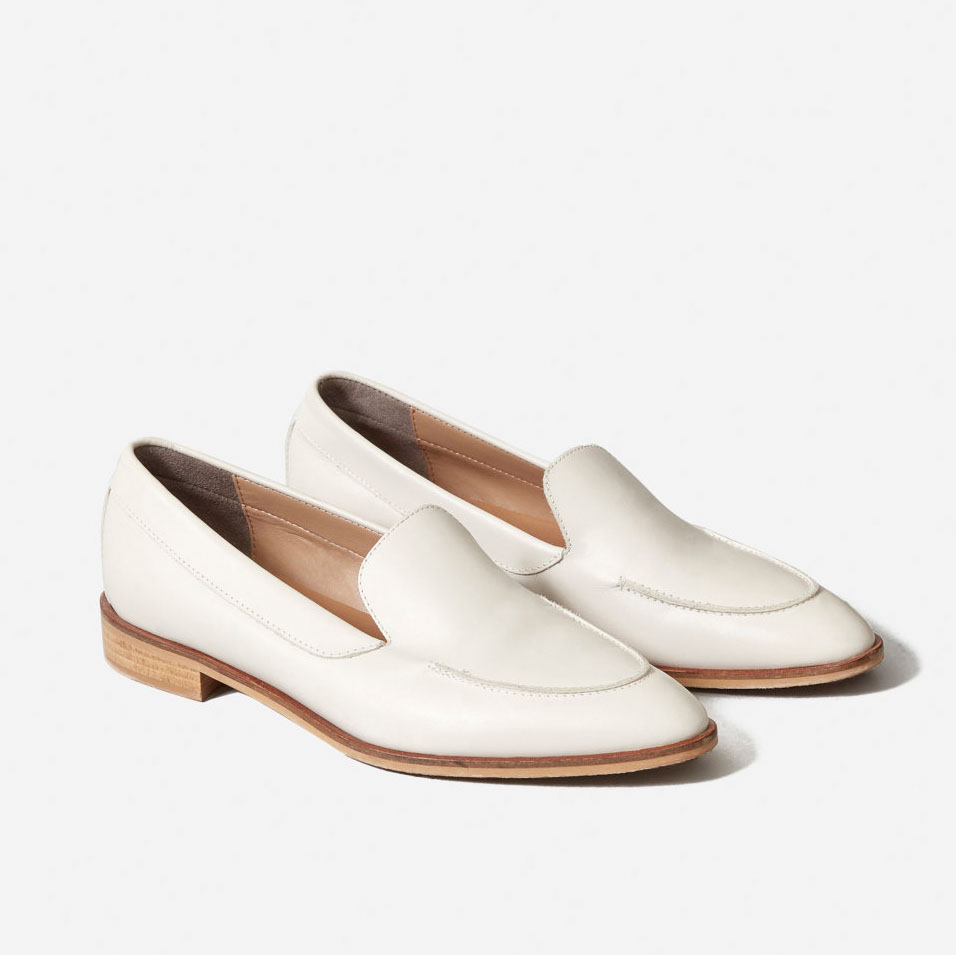 The Modern Loafer in Bone