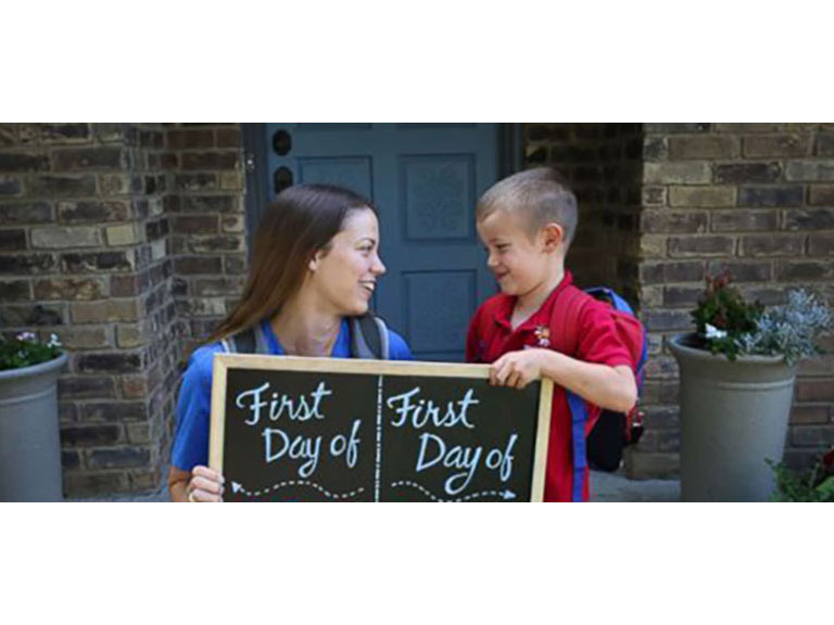 Mother Son Back-to-School Photo