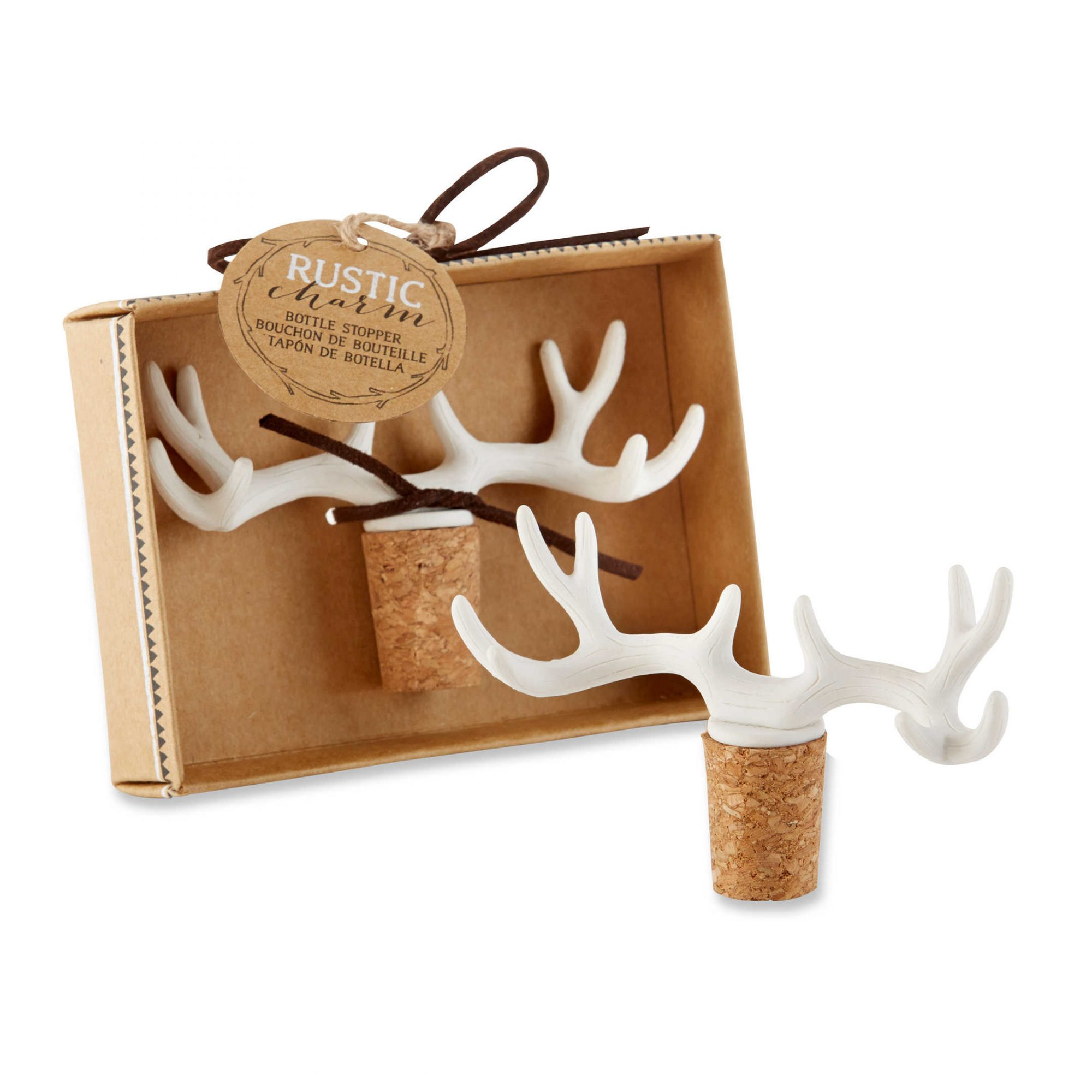 Kate Aspen Rustic Charm Antler Bottle Stopper