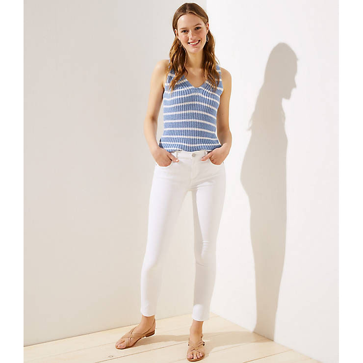 Slim Pocket Skinny Jeans in White