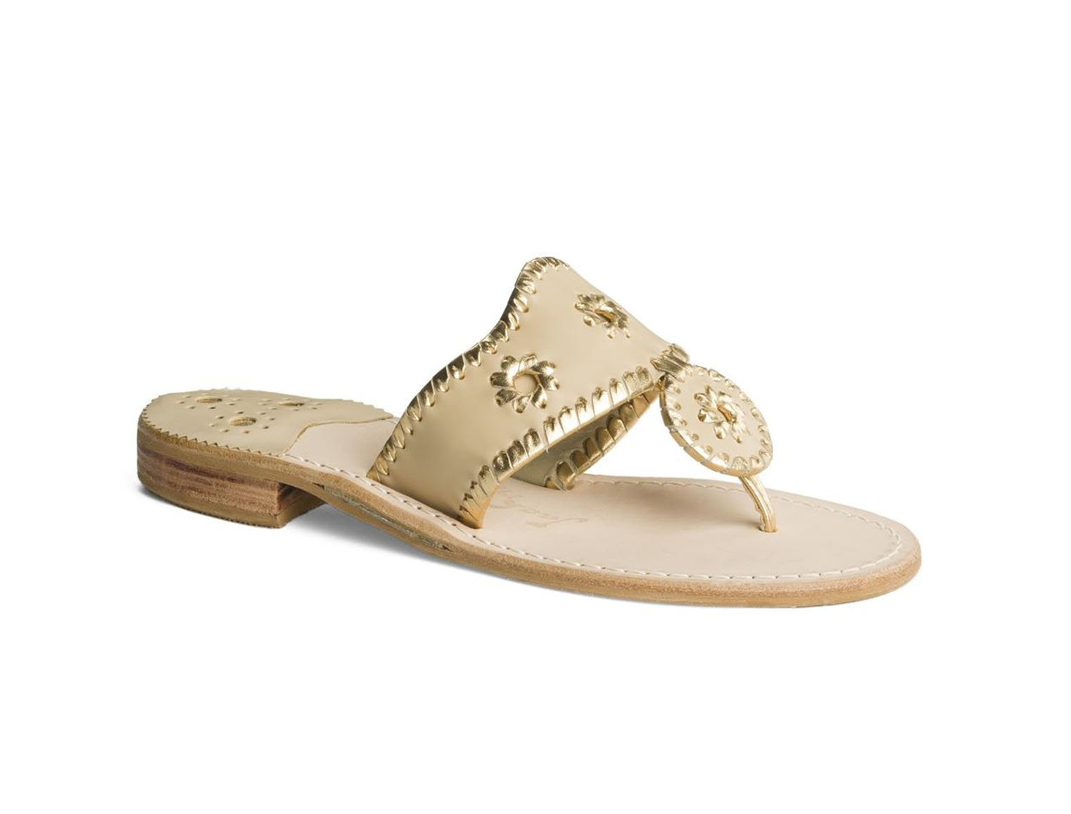 Jack Rogers Nantucket Gold Sandal