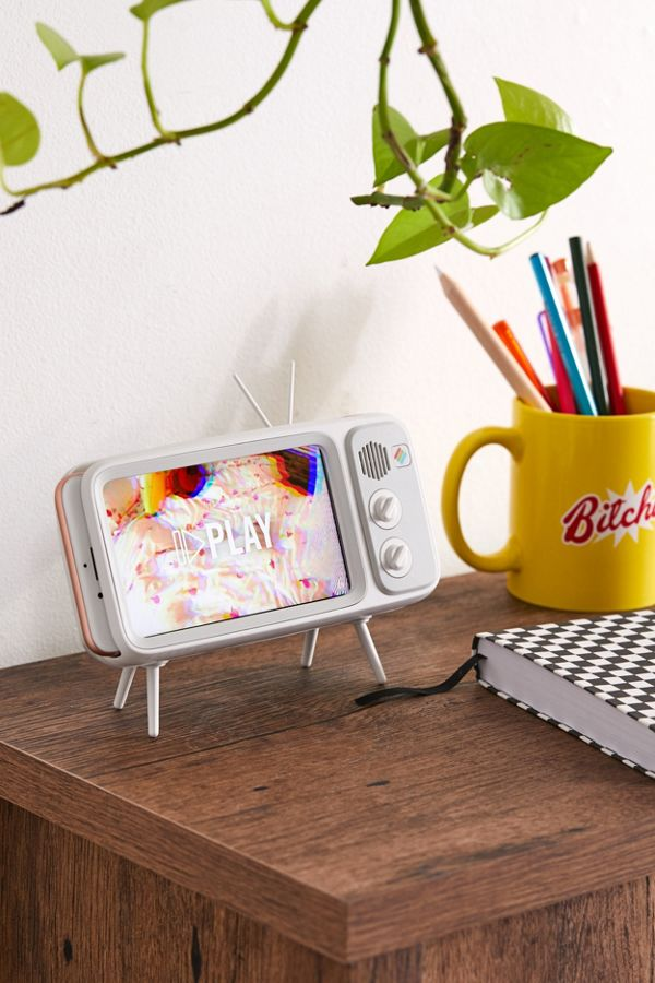Retroduck Retro TV White iPhone Dock