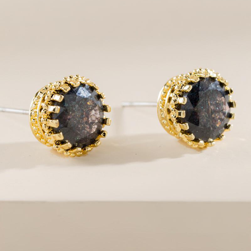 Ming Druzy Stud Earrings