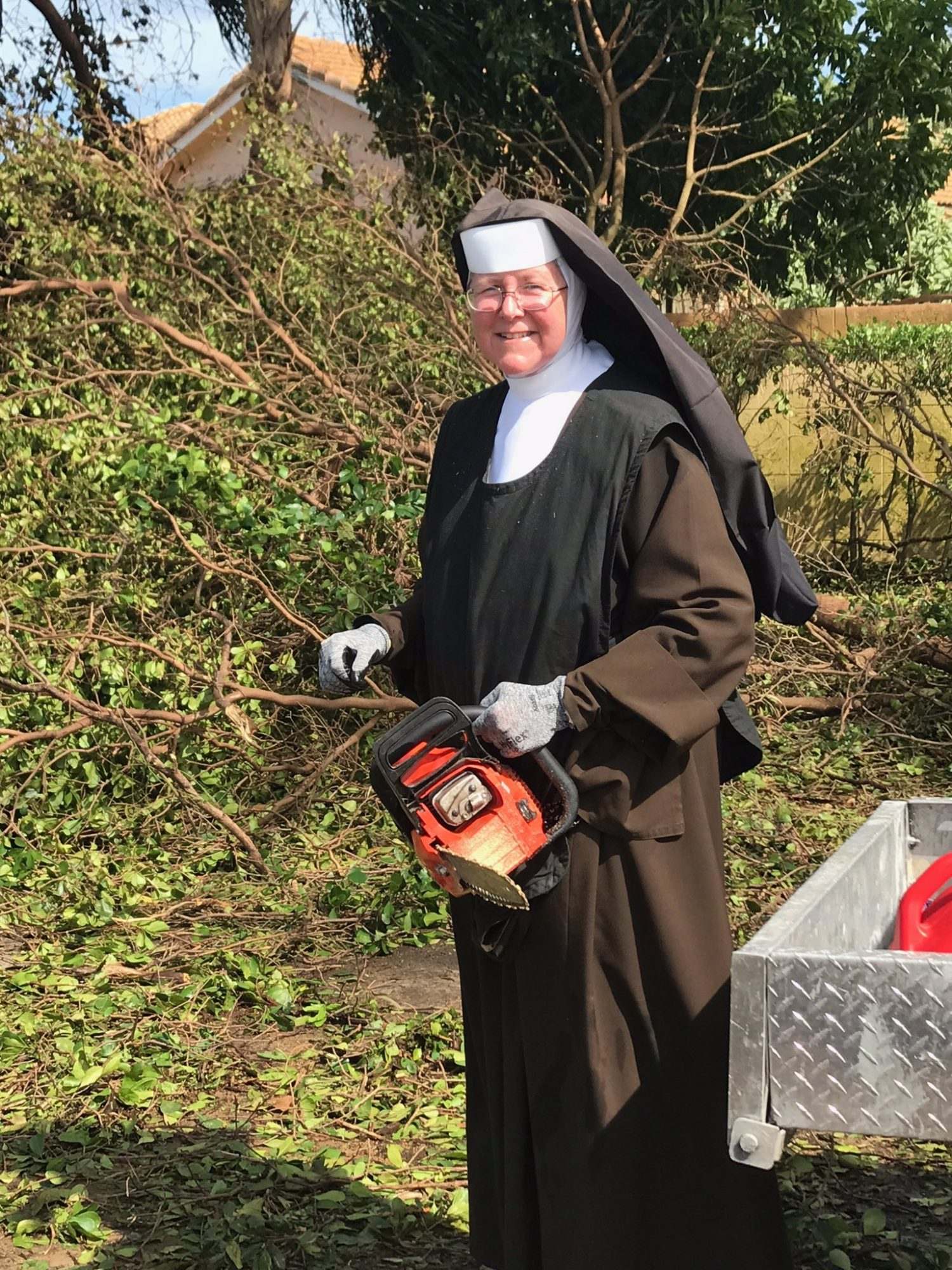 Sister Margaret Ann helps with Hurricane Irma relief efforts