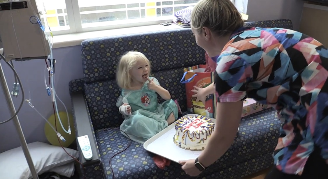 Hospital party for young girl