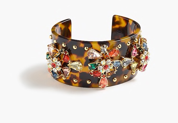 Crystal-Studded Lucite Cuff