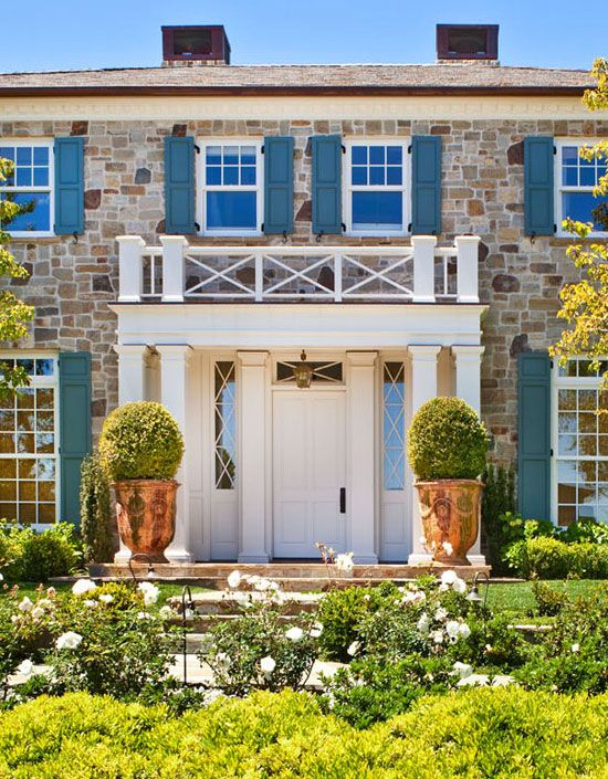 Colorful Shutters, Neutral Door