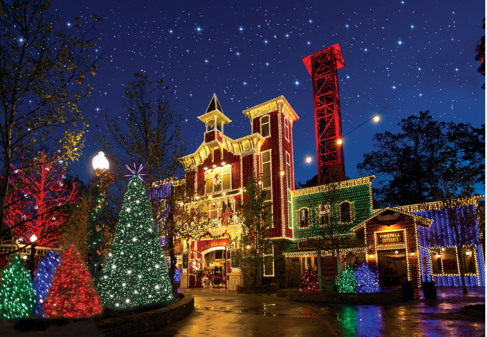 Head to Silver Dollar City for over 6.5 millions lights and 1,000 Christmas trees.